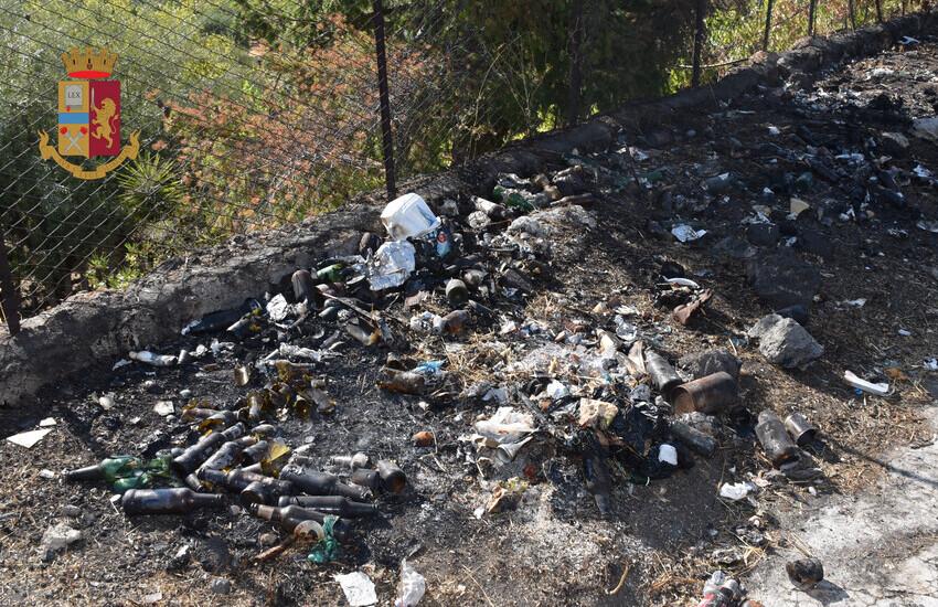 Adrano, incendia rifiuti, a Contrada Fumata, denunciato 67enne