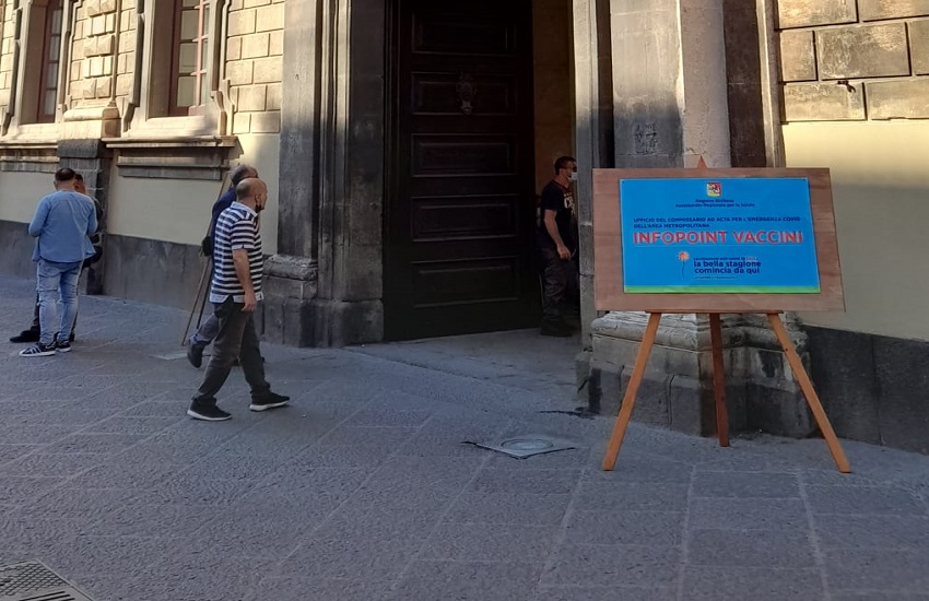Catania, hub vaccinale Palazzo degli Elefanti aperto anche questa settimana