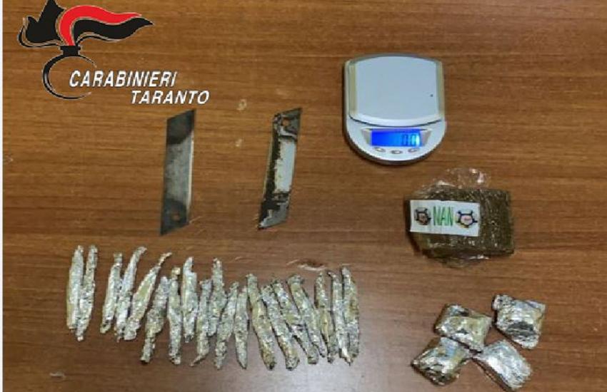 Taranto, in arresto 27enne incensurato: aveva con sé hashish