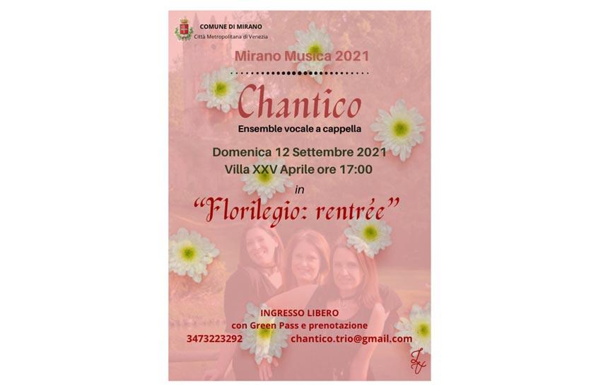 """Mirano, concerto """"Florilegio: Rentrée"""" domenica 12 settembre alle 17.00"""