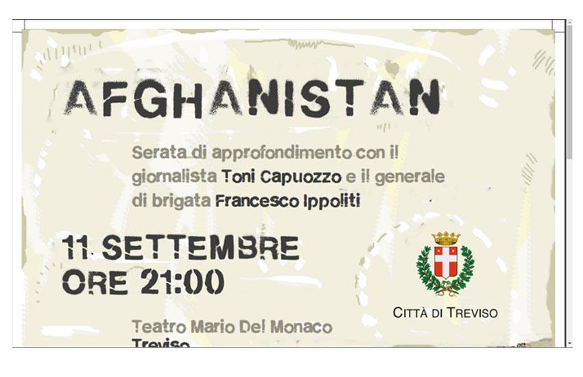 Afghanistan, serata di approfondimento al teatro comunale Del Monaco con Toni Capuozzo e Francesco Ippoliti