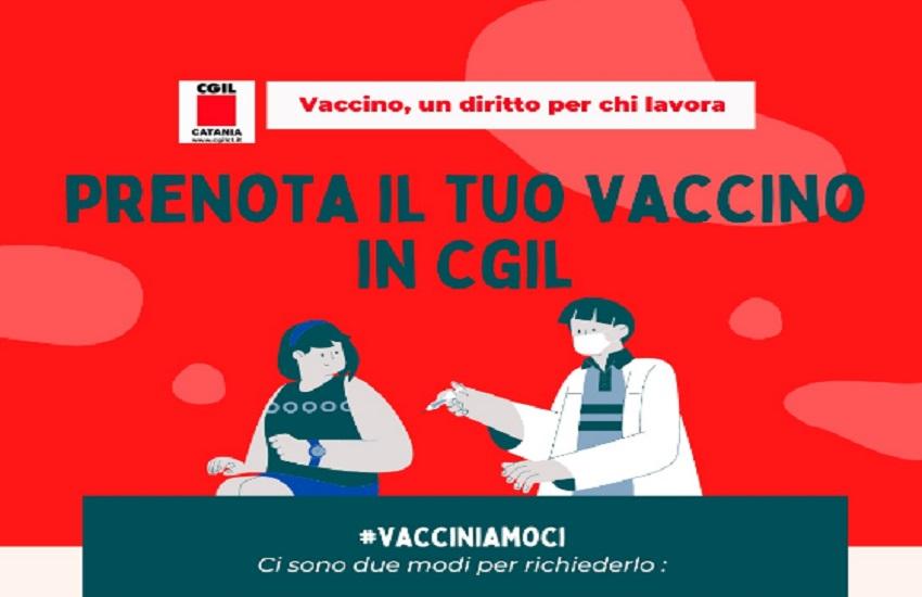 Catania, Cgil inaugura hub vaccinale per lavoratori in via Crociferi