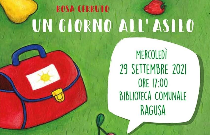 """Ragusa: presentazione dell'albo illustrato """"Un giorno all'asilo"""". Il gioco, il divertimento, la socializzazione, ma anche il problema del distacco tipico dei primi giorni al centro dell'incontro"""