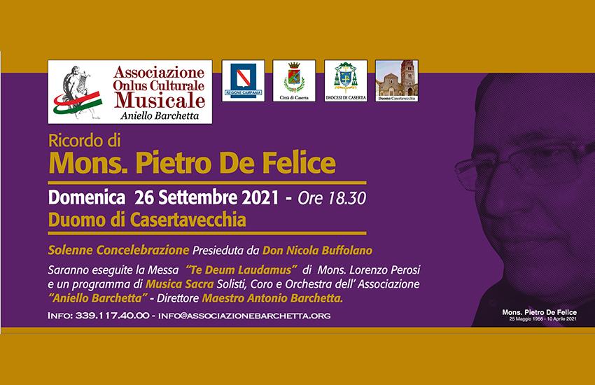 Il Borgo di Casertavecchia ricorda don Pietro De Felice con la musica che amava