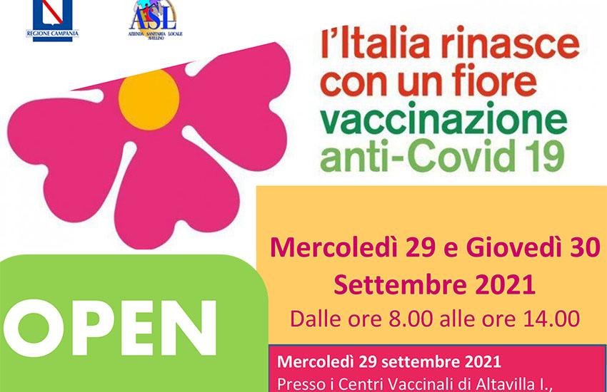 Open Day in Irpinia: le 3 dosi senza prenotazione