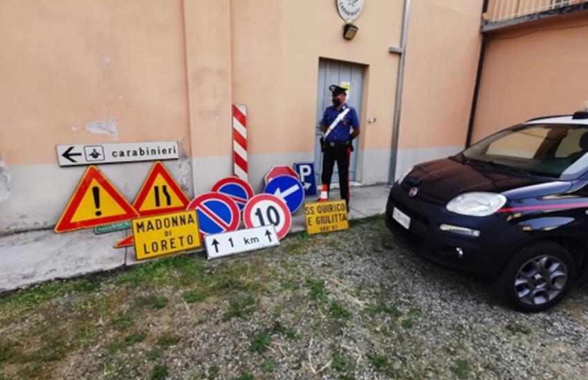 Rosignano, coltiva marijuana e ruba cartelli stradali: denunciato minorenne