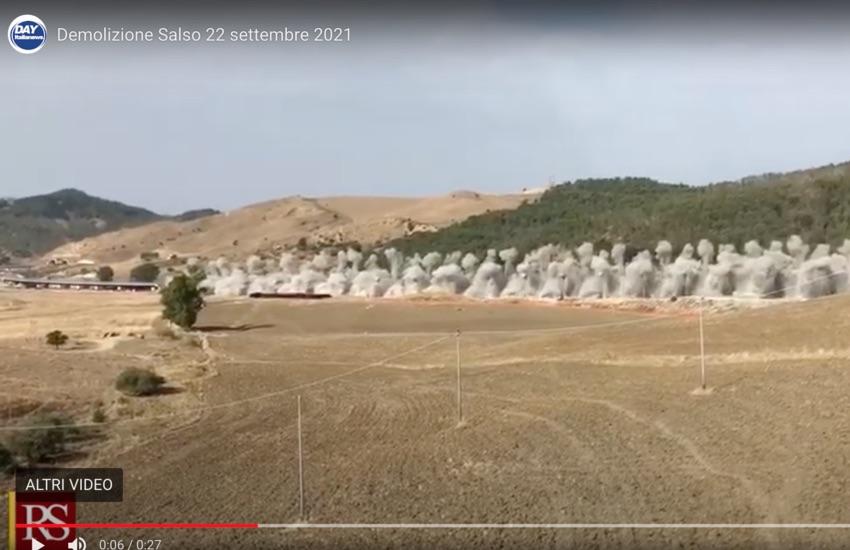 """Esclusiva, VIDEO della demolizione del viadotto """"Salso"""", Falcone: «Tappa importante»"""