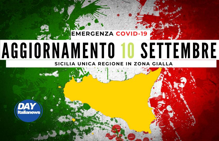 """Covid 10 settembre, casi stabili sotto i 1000. Sicilia unica regione """"Gialla"""""""