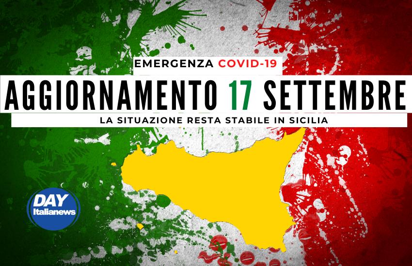 Covid 17 settembre, resta stabile la situazione in Sicilia