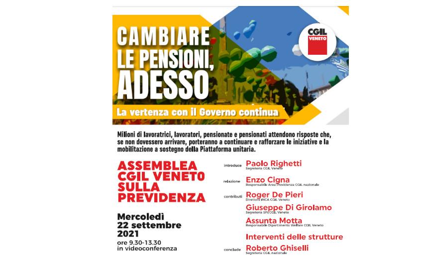 Assemblea regionale Cgil a Mestre: «Cambiare le pensioni adesso»