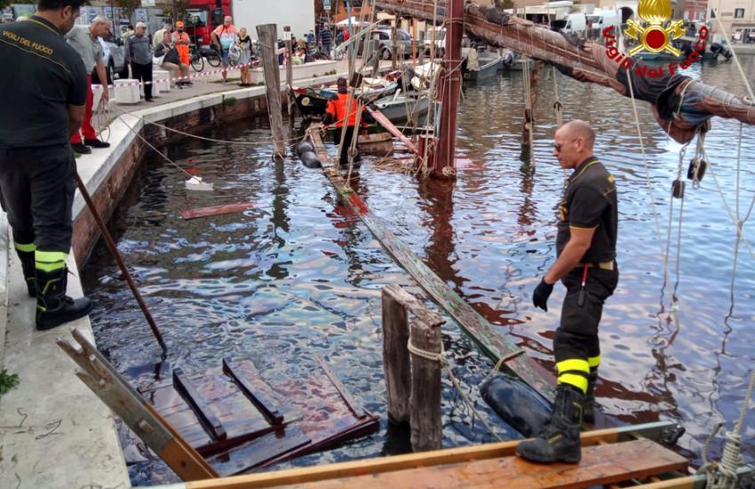 Chioggia, affonda storica imbarcazione