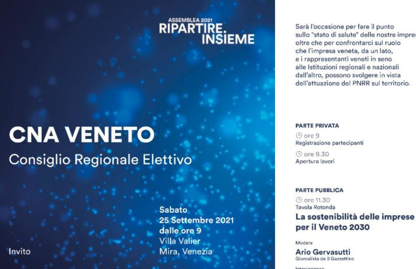Cna Veneto, assemblea del Consiglio regionale elettivo per il rinnovo delle cariche e l'elezione del nuovo Presidente