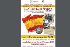 """Este, mostra del circolo filatelico numismatico Atestino Este sulla guerra di Spagna """"Una tragedia dimenticata"""""""