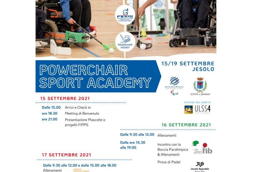 Dal 15 al 19 settembre a Jesolo l'Academy dedicata al Powerchair Hockey