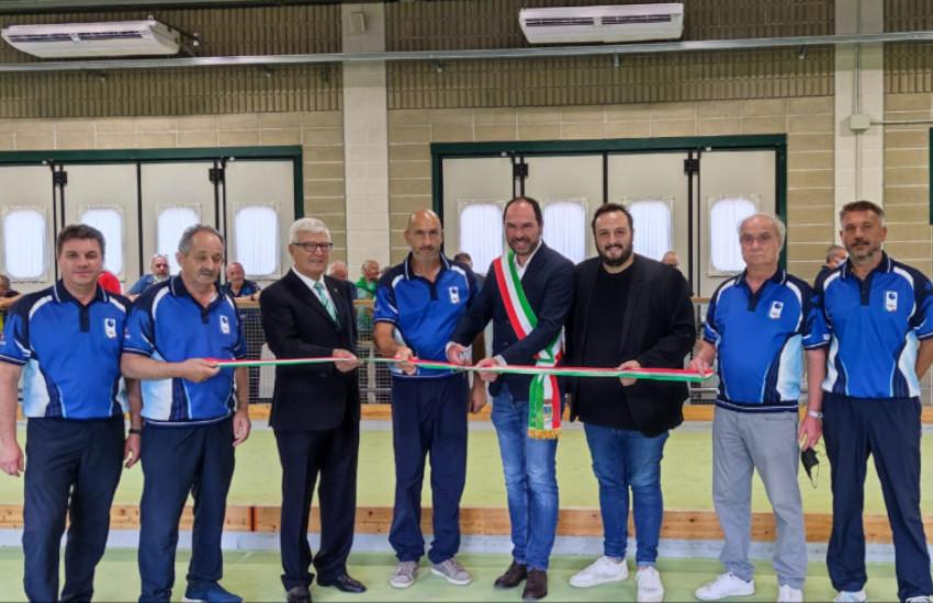 Mogliano, Bocciofila Concordia Moglianese: inaugurato il nuovo impianto di raffrescamento