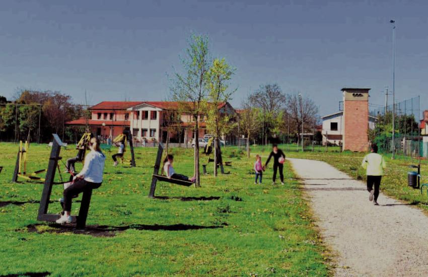 Montebelluna, al parco Manin un'area fitness
