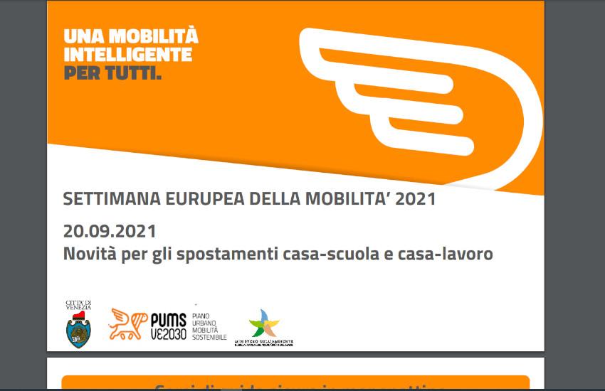 """Settimana Europea della Mobilità 2021:""""Mobilità sostenibile negli spostamenti casa-scuola e casa-lavoro"""""""