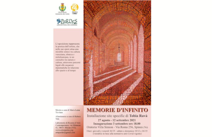 """Spinea, fino al 12 settembre la mostra """"Memorie d'infinito"""" di Tobia Ravà"""