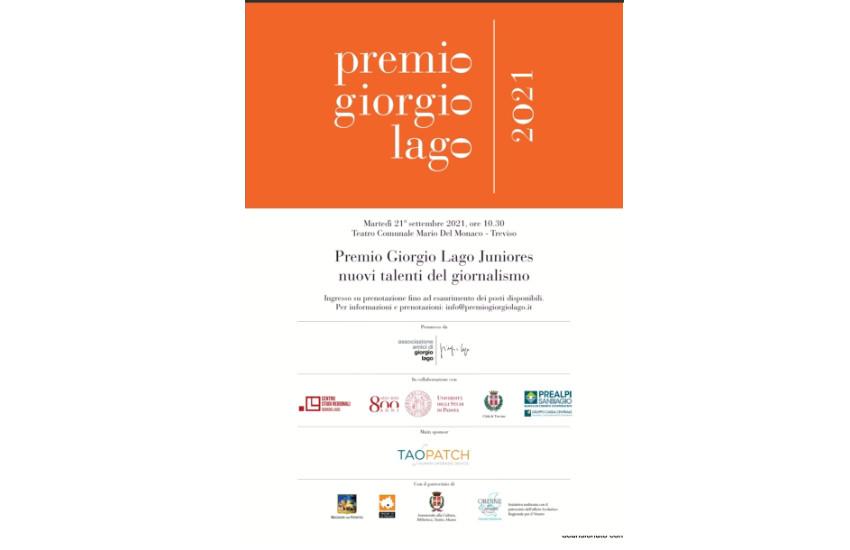 Treviso, il 21 settembre le premiazioni del Premio Giorgio Lago Juniores 2021