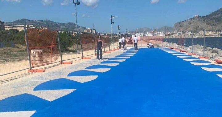 Foro Italico, iniziati i lavori di coloritura della pavimentazione