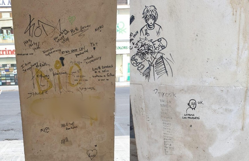 Vandalismo in pieno centro a Latina: denunciate cinque ragazze