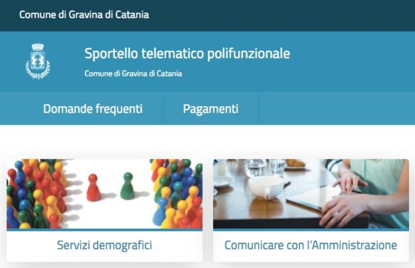Gravina di Catania: il Comune attiva lo sportello telematico