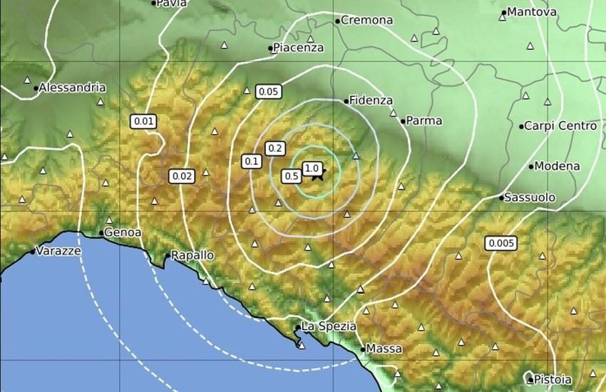 Tigullio, Scossa di terremoto magnitudo 3,3 con epicentro Solignano