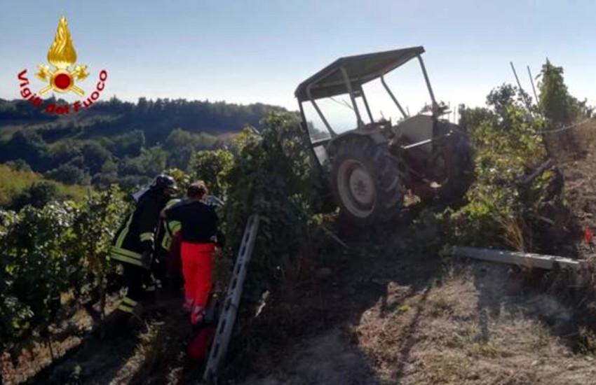 Clavesana, trattore si ribalta  in vigna: morto agricoltore