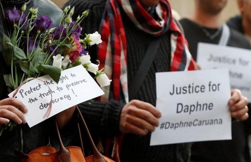 Ragusa: in piazza San Giovanni un ricordo della giornalista maltese Daphne Caruana Galizia organizzato da Libera, l'associazione nata per contrastare attivamente mafie e corruzione