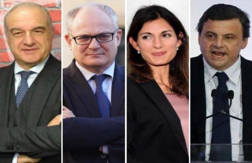 I 4 candidati alle elezioni di Roma.