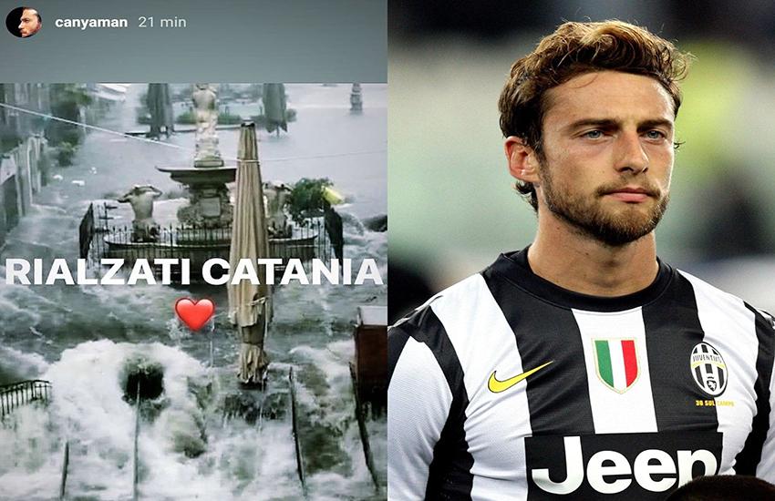 Maltempo choc: Can Yaman, Marchisio e gli altri Vip che pregano per Catania